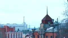 Tomsk city on the hill Stock Footage