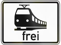 Trains Allowed Stock Illustration