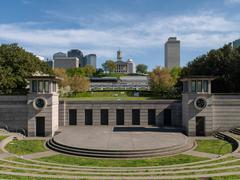 Bicentennial Mall Amphitheater in Nashville, Tennessee Stock Photos