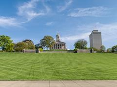 Wide shot from the base of Capitol Hill in Nashville, Tennessee Stock Photos