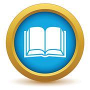 Gold book icon Stock Illustration