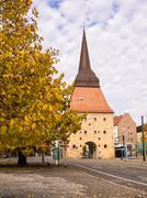 Historical building in Rostock Stock Photos