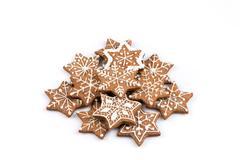 Star shape christmas gingerbread cookies Stock Photos