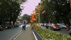 4K Shot of Streets of GOA Panjim Stock Footage