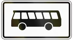 Buses Only - stock illustration