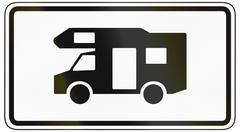 Recreational Vehicles Only Stock Illustration