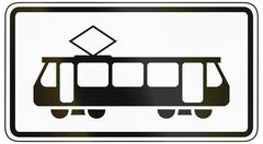 Trams Only - stock illustration