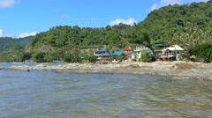 View on Sea Coast, El Nido, Philippines Stock Footage
