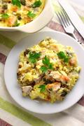 Chicken breast and cauliflower casserole - stock photo
