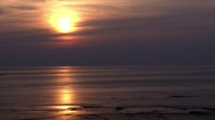 Burnham-on-Sea Sunsets Stock Footage