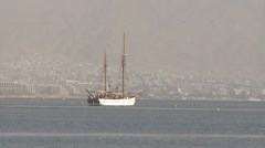Stock Video Footage of Beautiful yacht on the red sea backround
