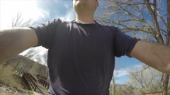A timelapse of family on a bike ride Stock Footage