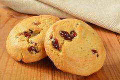 Cranberry orange cookies - stock photo