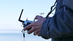 Drone Operator  Holding A Transmitter. Hands close up. 4K 3840x2160 Stock Footage