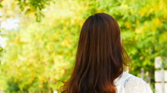 Beauty young woman in summer. Stock Footage