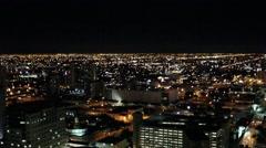 Miami Skyline - Night Time Lapse Stock Footage