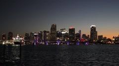 Miami Skyline - Sunset Time Lapse 4 Stock Footage