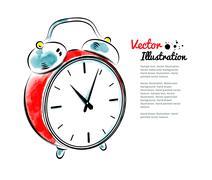 Alarm clock - stock illustration