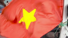 Vietnamese flag Stock Footage