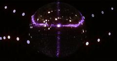 UV Ultra Violette Full Screen Mirror ball Disco Ball UV Gold Full Screen Stock Footage