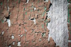 Weathered wood with peeling paint Stock Photos