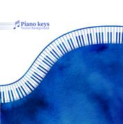 Piano keys watercolor background Piirros