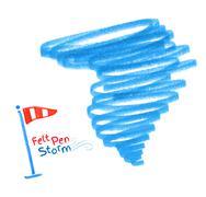 Hurricane. Vector illustration Stock Illustration
