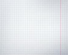Checkered school notebook Stock Illustration