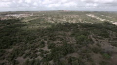 High Aerial Shot of bushland in northeast Brazil Stock Footage