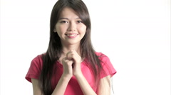 Chinese woman excited and happy - stock footage