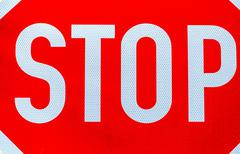 optional stop sign - stock photo