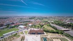 View of Almada city near Lisbon - Portugal timelapse Stock Footage
