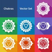 Chakras - stock illustration