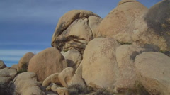 Large Granite Boulders- Joshua Tree National Park - stock footage