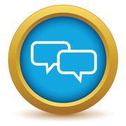 Stock Illustration of Gold conversation icon