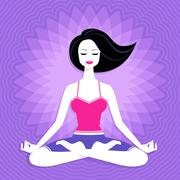 Young woman. Meditation - stock illustration