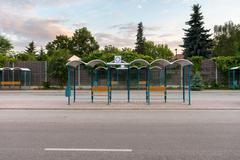 Bus Stop without people - stock photo