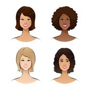 Human race women - stock illustration