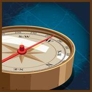 compass west - stock illustration