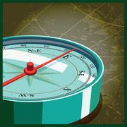 Compass east Stock Illustration