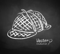 Detective hat - stock illustration