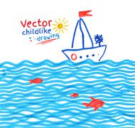 Seaside Stock Illustration
