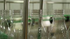 plastic bottle production line 4K - stock footage