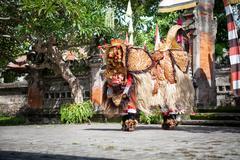 Stock Photo of Barong Dance show, Indonesian  mythology perform