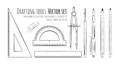Drafting tools Stock Illustration