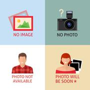 No image or photo signs for web page. - stock illustration