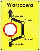Detour In Poland Stock Illustration