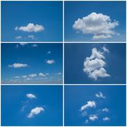Stock Photo of Set of six blue Sky daylight collection