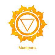 Manipura chakra Stock Illustration