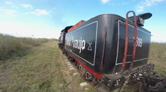 1875 Steam Train Ride at Sugar Factory - Cuba 2 Stock Footage